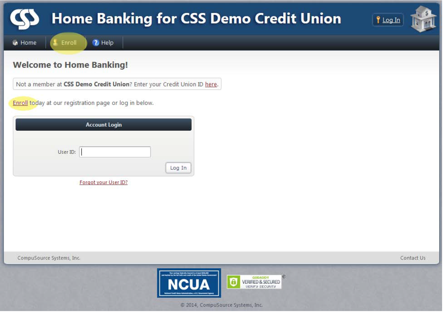 Home Banking image instructions